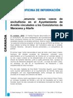 Ayuntamiento de Armilla contrata a familiares de cargos socialistas