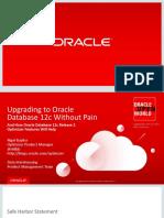 Upgrading to Oracle Database 12c