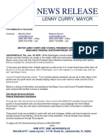 01.18.19 Coj Rls Mayor Council President Announce Shutdown Relief Options