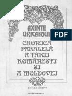 Axinte Uricariul. Cronica paralelă a Țării Românești și a Moldovei.pdf