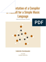 Compiler for a simple music language in Haskell