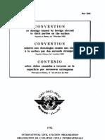 DOC 7364 Convenio sobre daños causados a terceros en la superficie por aeronaves extranjeras (1952)