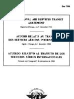 DOC 7500 Acuerdo relativo al tránsito de los servicios aéreos internacionales (1944)