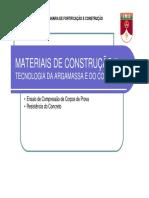 Materiais de Construção II Tecnologia Da Argamassa e Do Concreto