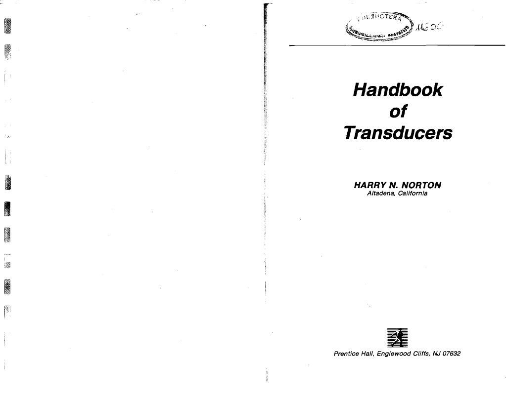 Handbook Of Transducers Harry N Norton Com Circuitdiagram Signalprocessing Oscillatorcircuit Thequartz
