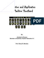 Machine Shorthand Module 15