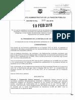 Decreto 319 Del 19 Febrero de 2018
