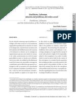 Durkheim, Luhmann y la delimitación del problema del orden social - Gonnet