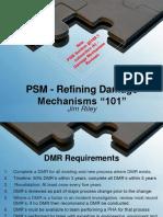 PSM Damage Mechanism Requirements