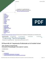 El Desarrollo de Competencias Profesionales en La Sociedad Actual