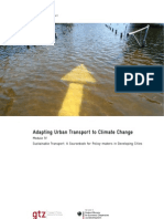 Adapting Urban Transport to Climate Change