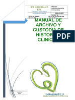 1.Manual de Archivo y Custodia de Historias Clinicas Ok