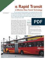 BRT a Cost-Effective Mass Transit Technology