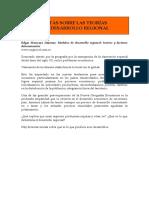 Notas Sobre Las Teorías de desarrollo regional. Edgar Moncayo (1)
