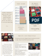 Custom Tee Shirt Quilt Brochure