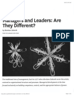 Managers and Leaders Are They Different