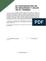 Acta-De-conformación Del Comite Se Seguridad y Salud