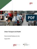 Urban Transport and Health