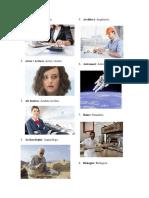 Profesiones en Ingles - español con ilustraciones
