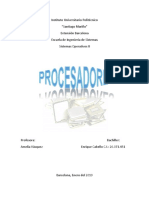 Monografìas de Procesadores.