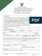 CD 13164758 Fellowship Application Form