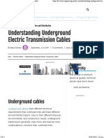 Understanding Underground Electric Transmission Cables