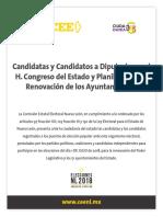 Ayuntamientos - Nuevo Leon - CEE - 2018