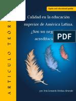 Calidad en la educación superior de América Latina, ¿Son un negocio las acreditaciones?