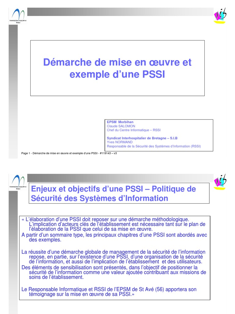 Demarche Exemple Pssi