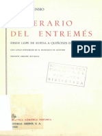 220429969 Itinerario Del Entremes Desde Lope de Rueda a Quinones de Benavente Con Cinco Entremeses de d Francisco de Quevedo