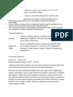Monster Resume Format