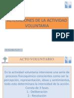 Alteraciones de La Actividad Voluntaria