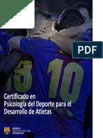 Certificado en Psicologiüa del Deporte para el Desarrollo de Atletas