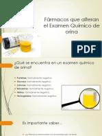 Fármacos Que Alteran El Examen Químico de Orina