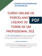 CURSO ONLINE DE PORCELANATO LÍQUIDO 3D【TORNE-SE UM PROFISSIONAL 3D】