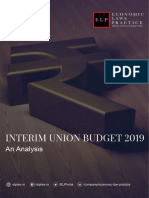 Interim Union Budget 2019 -An Analysis