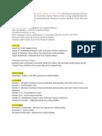 Schedule of Activities 17-18