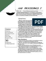 AAB Proceedings - Issue #17