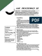 AAB Proceedings - Issue #18B