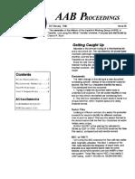 AAB Proceedings - Issue #27