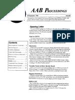 AAB Proceedings - Issue #25