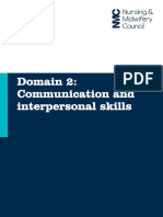 Domain 2 Communication and Interpersonal Skills2