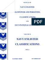 MANUAL OF NAVY ENLISTED MANPOWER AND PERSONNEL CLASSIFICATIONS AND OCCUPATIONAL STANDARDS, VOL II