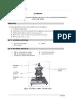 CSTR Experiment Manual