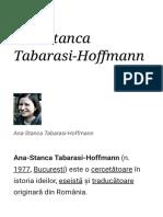 Ana Stanca Tabarasi Hoffmann Wikipedia