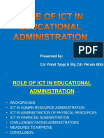 Role of ICT in School Administration