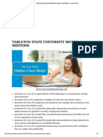 Tarleton State University Motor -Midterm – Terahomework
