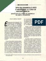 El concepto de desarrollo visto desde la Universidad. El caso de Antonio Garcia - Julian Sabogal Tamayo