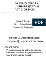 Analiza Psihologica a Muncii - Proprietati Si Practici de Baza - Partea 3, Analiza Muncii