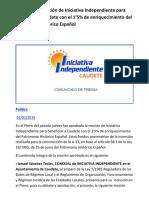 Aprobada la Moción de Iniciativa Independiente para beneficiar a Caudete